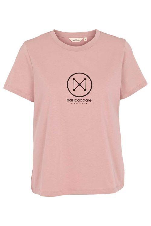 Basic Apparel T-shirt Logo Tee Woodrose Front