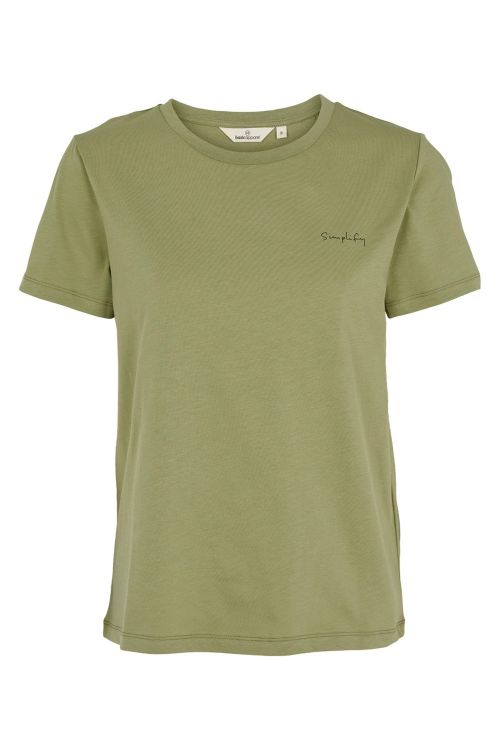 Basic Apparel T-shirt Simplify Tee Oil Green Front