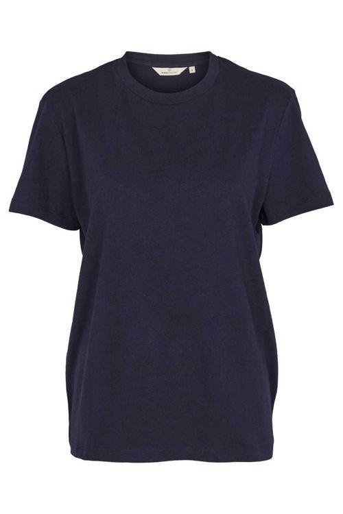 Basic Apparel T-shirt Rikke Tee Organic Navy Front