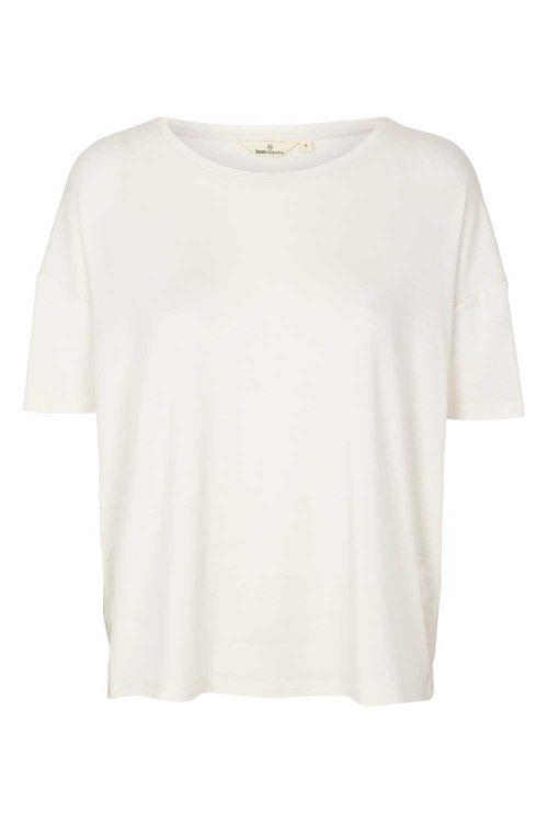 Basic Apparel T-shirt Kate Tee Tencel Chalk Front