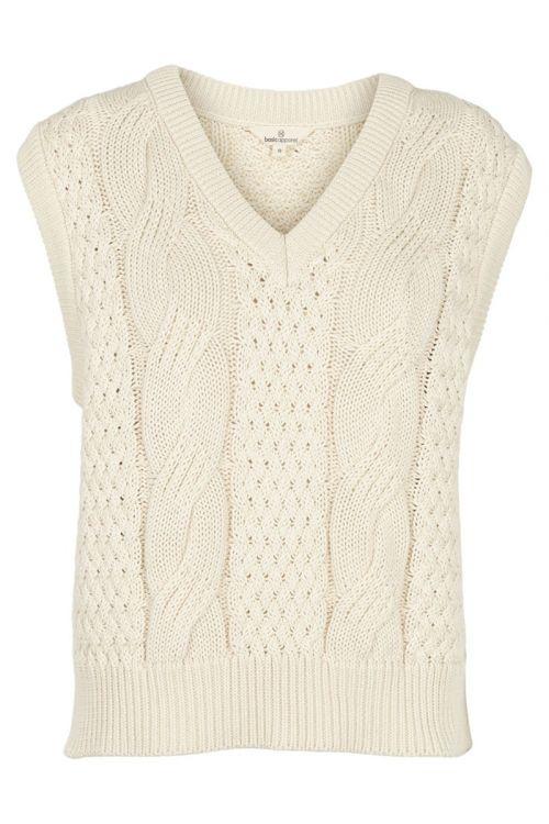 Basic Apparel - Vest - Gina Vest - Whisper White