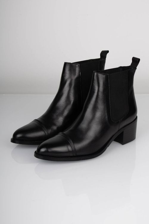 Bianco Sko Dress Chelsea Ankel Boot Black Front