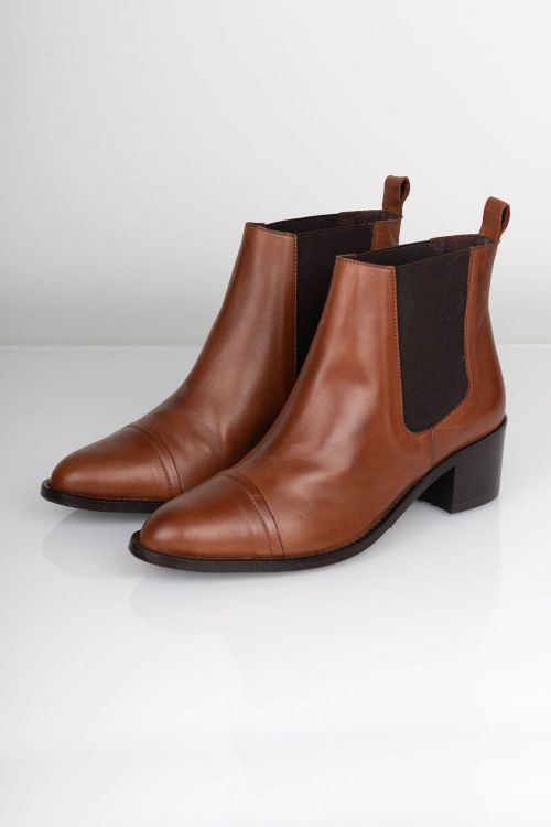Bianco - Sko - Dress Chelsea Ankel Boot - Cognac Front
