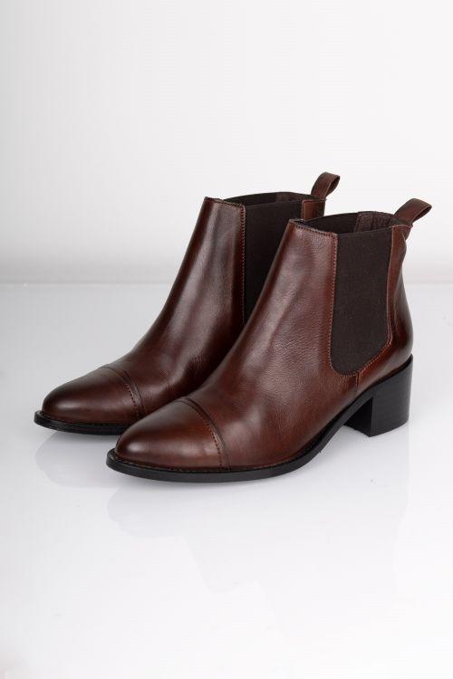 Bianco Støvler Chelsea Ankel Boot Dark Brown Front