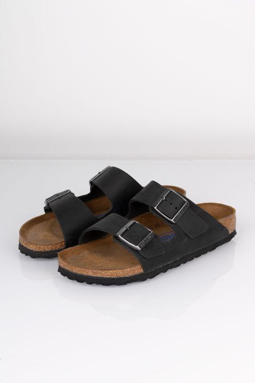 Birkenstock Sandal Arizona Nu Oiled SFB Black Front