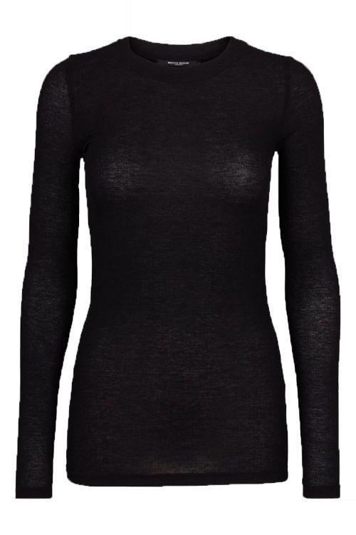 Bruuns Bazaar Blue Angela LS T-shirt Black Front