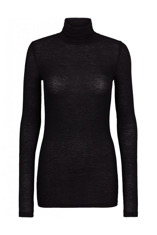Bruuns Bazaar Bluse Angela Roll Neck Black Front