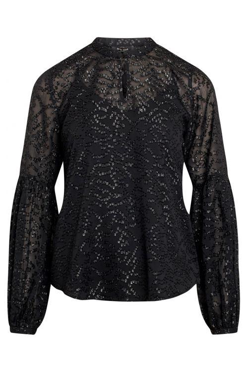 Bruuns Bazaar Bluse Alexandria Athena Blouse Black Front