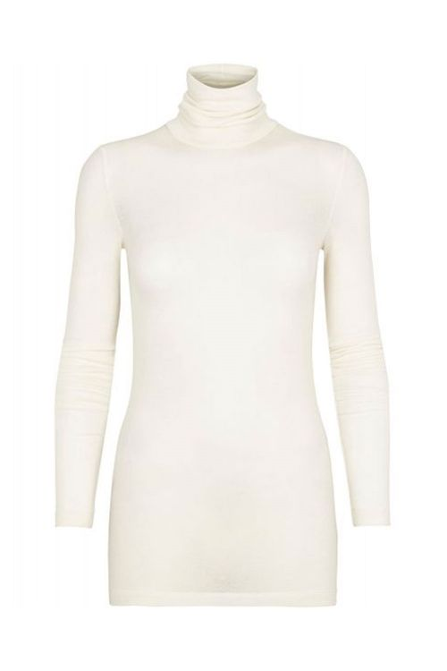 Bruuns Bazaar Bluse Angela Roll Neck Snow White Front