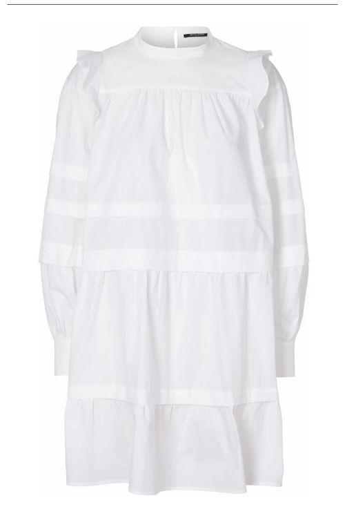 Bruuns Bazaar Kjole Rosie Geneva Dress White Front