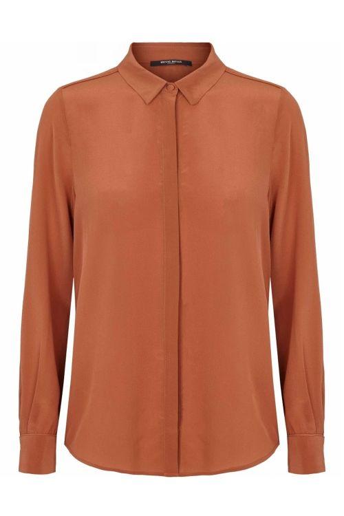 Bruuns Bazaar Skjorte Lillie Corrine Shirt Cinnamon Front