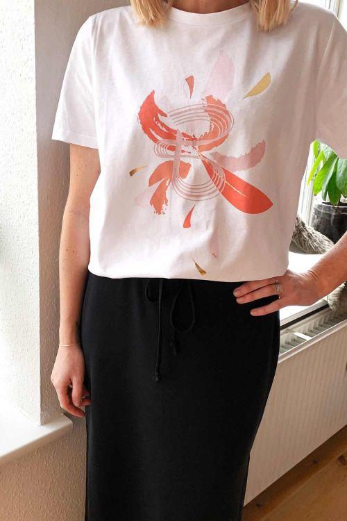 Bruuns Bazaar X Lykke - T-shirt - Brush Kally Tee - White