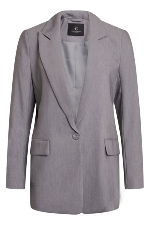 Bruuns Bazaar - Blazer - CindySus Frida Blazer - Grey Melange