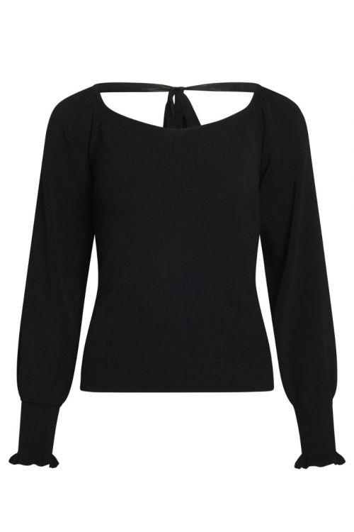 Bruuns Bazaar - Bluse - Celosia Otilie Knit - Black
