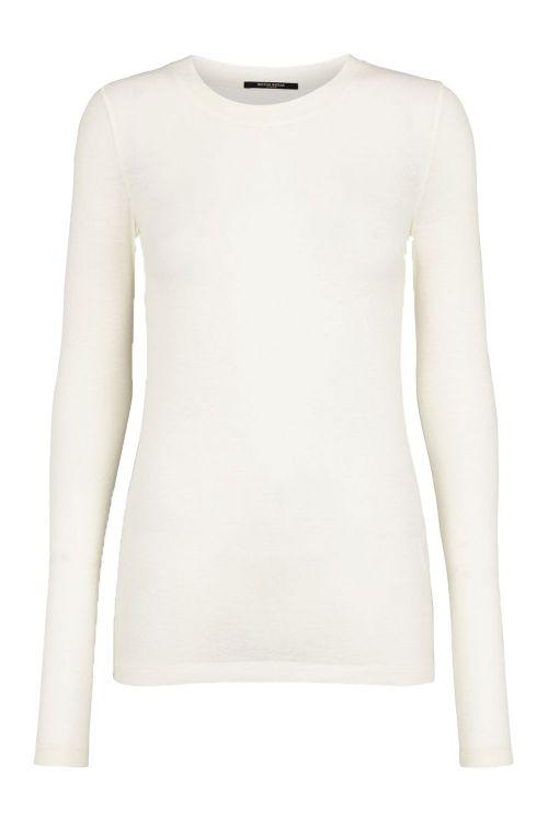 Bruuns Bazaar Bluse Angela LS T-shirt Snow White Front