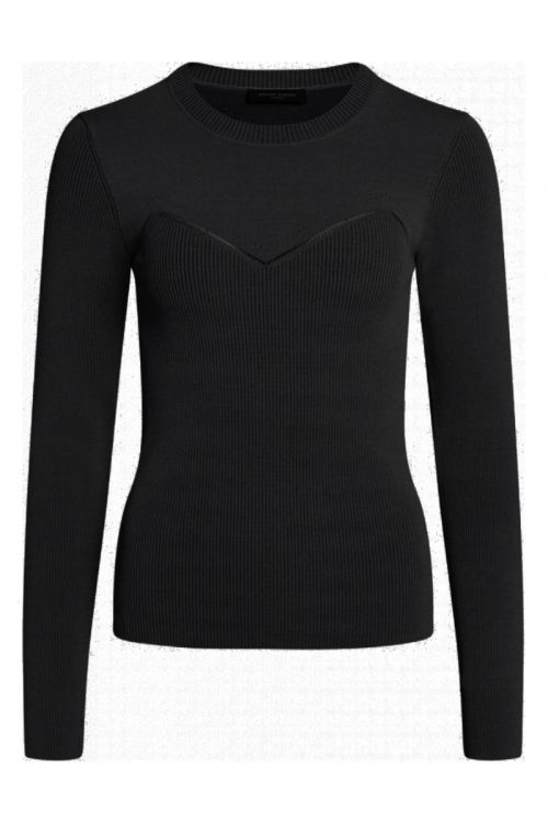 Bruuns Bazaar - Bluse - Celosia Kastanje Knit - Black