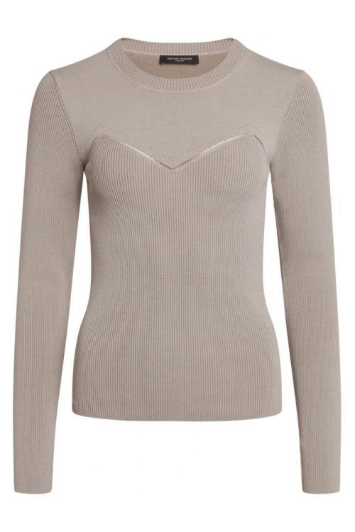 Bruuns Bazaar - Bluse - Celosia Kastanje Knit - Light Grey