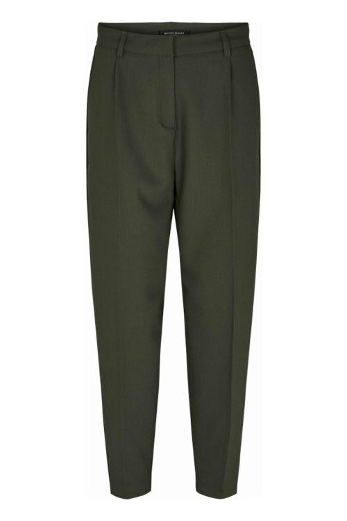 Bruuns Bazaar Bukser Cindy Dagny Pant Deep Forest Front