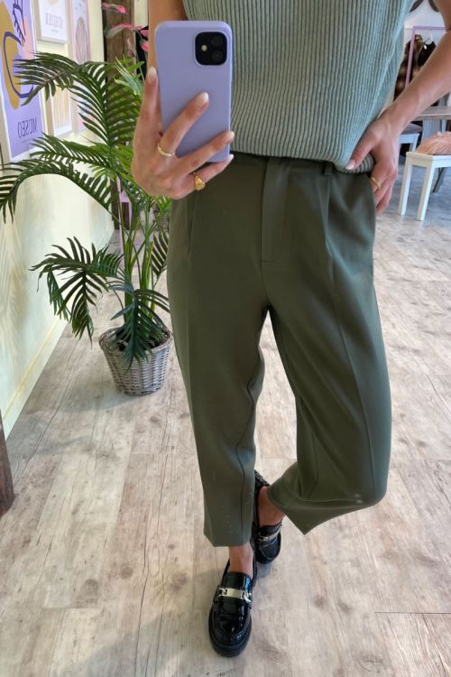Bruuns Bazaar Bukser CindySus Dagny Pants Dusty Olive Hover