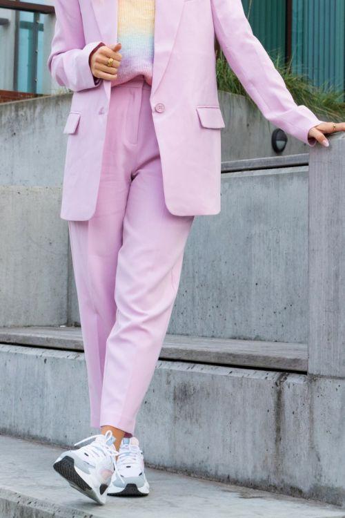 Bruuns Bazaar Bukser CindySus Dagny Pants Pink Lavender Hover