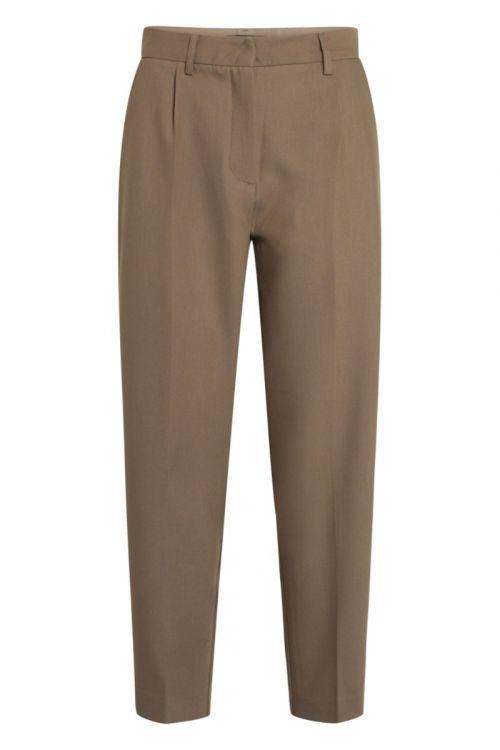 Bruuns Bazaar Bukser Women Cindy Dagny Pant Bungee Brown Front