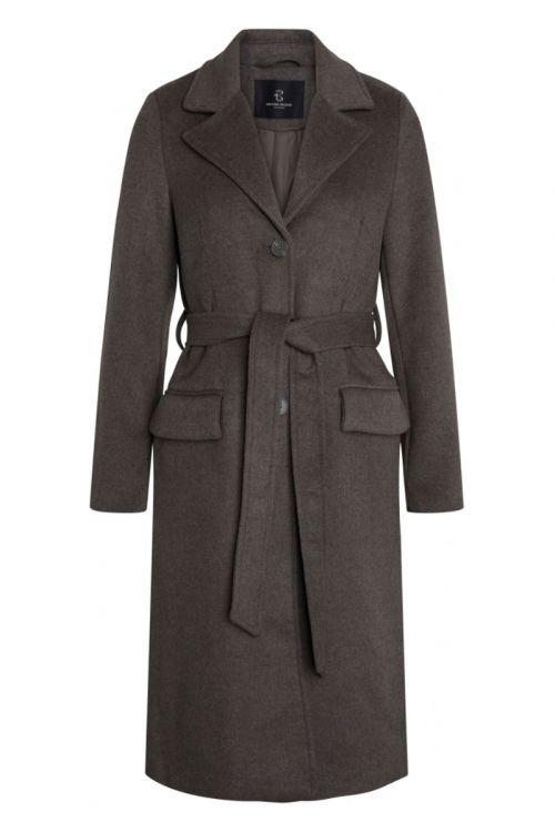 Bruuns Bazaar - Jakke - Catarina Novelle Coat - Major Brown Melange