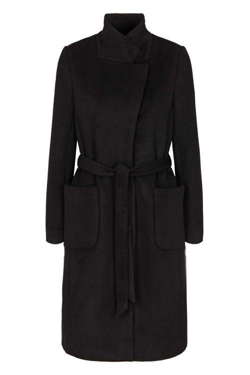 Bruuns Bazaar Jakke Jasmina Perle Coat Black Front