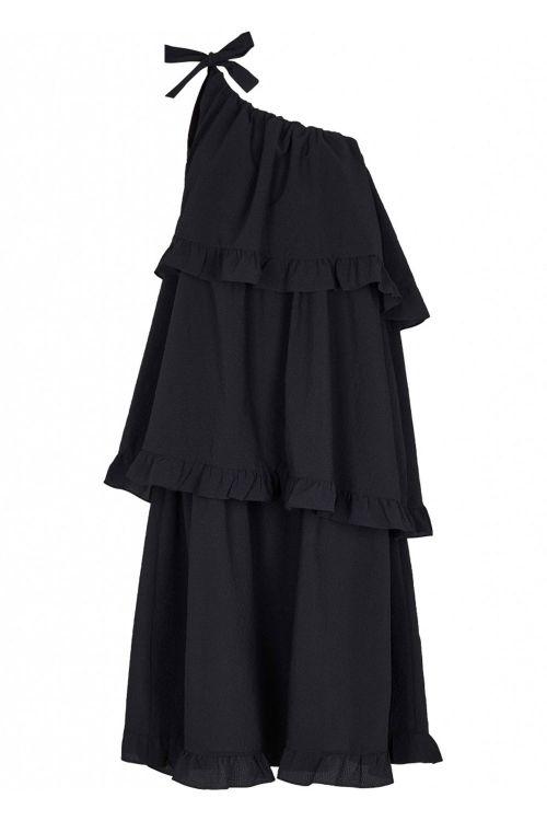 Bruuns Bazaar Kjole Angeli Justine Dress Black Front