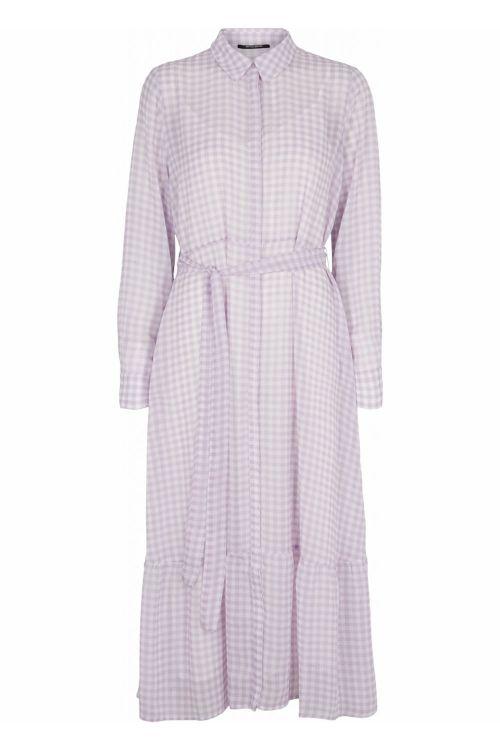 Bruuns Bazaar Kjole Checks Kora Dress Lavender Front
