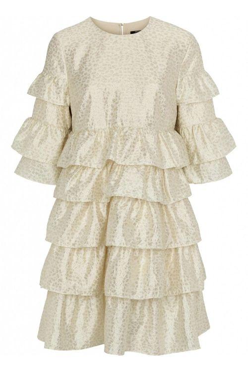 Bruuns Bazaar Kjole Folja Anine Dress Gold Front