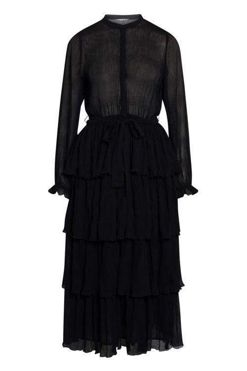 Bruuns Bazaar Kjole Justina Sana Dress Black Front