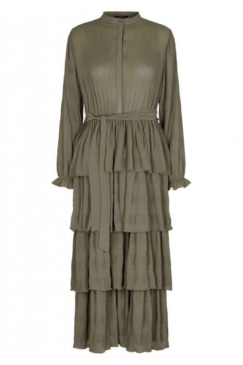 Bruuns Bazaar Kjole Justina Sana Dress Olive Tree Front