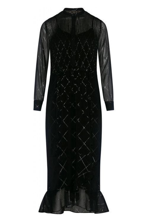 Bruuns Bazar Kjole Mirah Idalina Dress Black Print Front