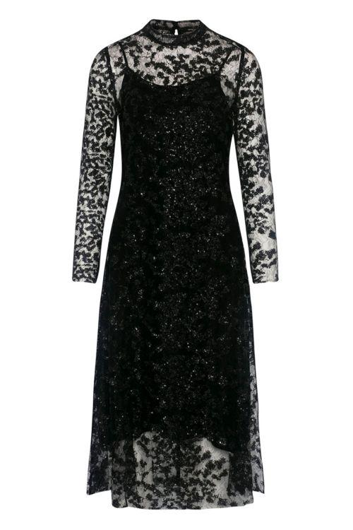Bruuns Bazar Kjole Pearla Vie Dress Black Front