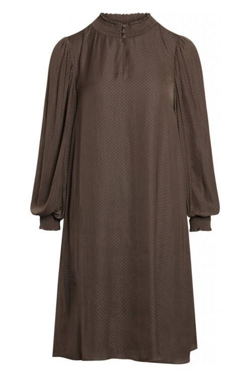 Bruuns Bazaar - Kjole - Prickly S Mette Dress - Major Brown