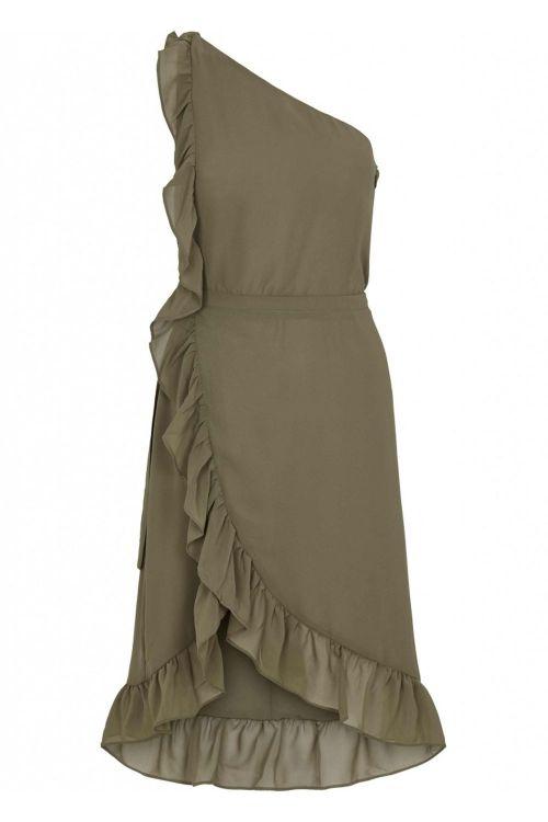Bruuns Bazaar Kjole Rosalina Kendra Dress Olive Tree Front