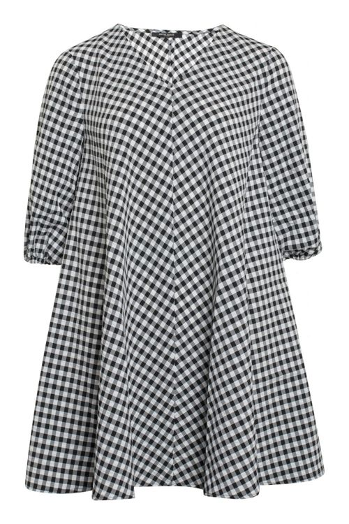 Bruuns Bazaar Kjole Seer Allure Dress Black/White Check Front