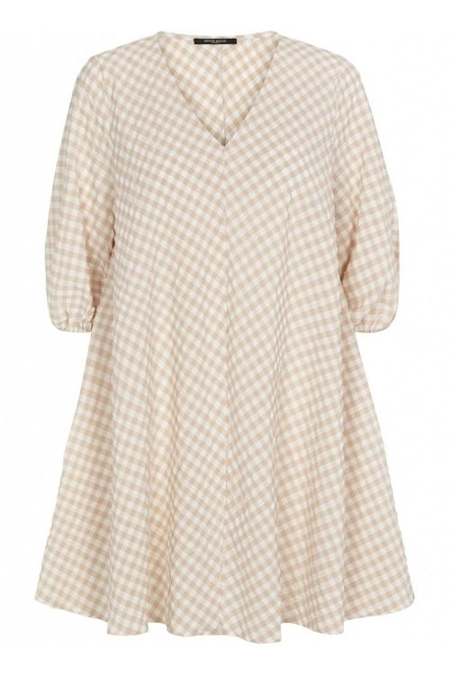 Bruuns Bazaar Kjole Seer Allure Dress Sand/White Check Front