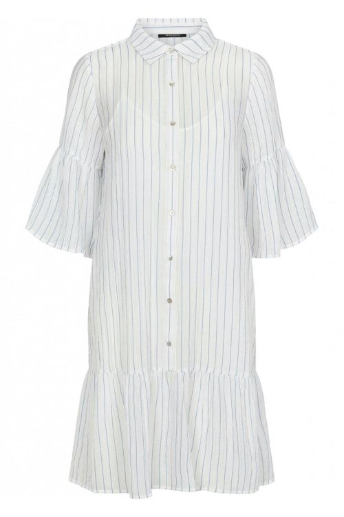 Bruuns Bazaar Kjole Vickie Bally Shirt Dress Dream Blue/White Stripes Front