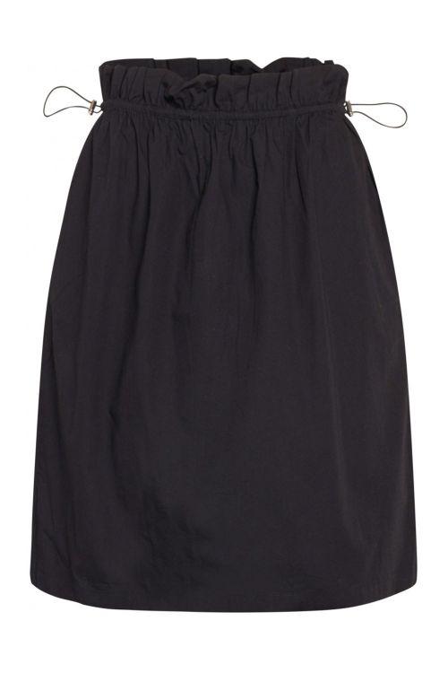 Bruuns Bazaar Nederdel Freyie Telmie Skirt Black Front