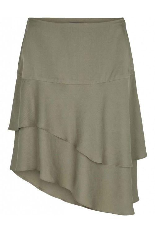 Bruuns Bazaar Nederdel Laera Dolphine Skirt Olive Tree Front