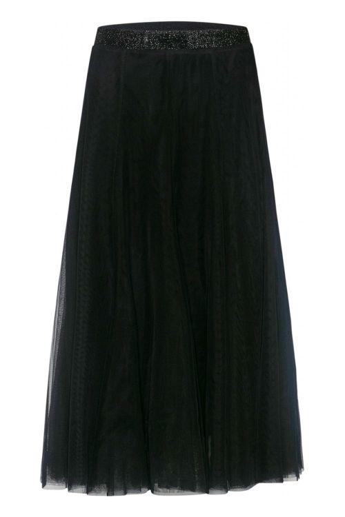 Bruuns Bazar Nederdel Lala Abbie Skirt Black Front