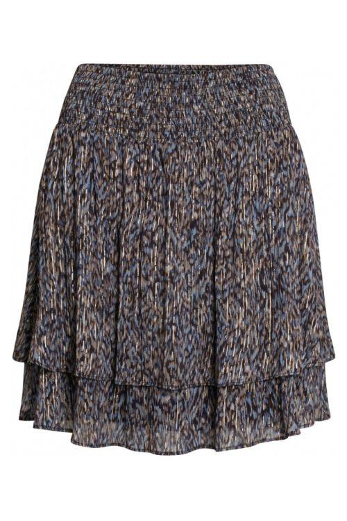 Bruuns Bazaar - Nederdel - Vervain Estella Skirt - Modern Artwork Dark