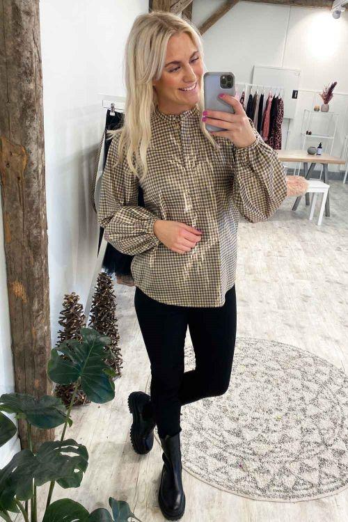 Bruuns Bazaar Skjorte Notting Terni Shirt Roasted Grey Khaki Hover