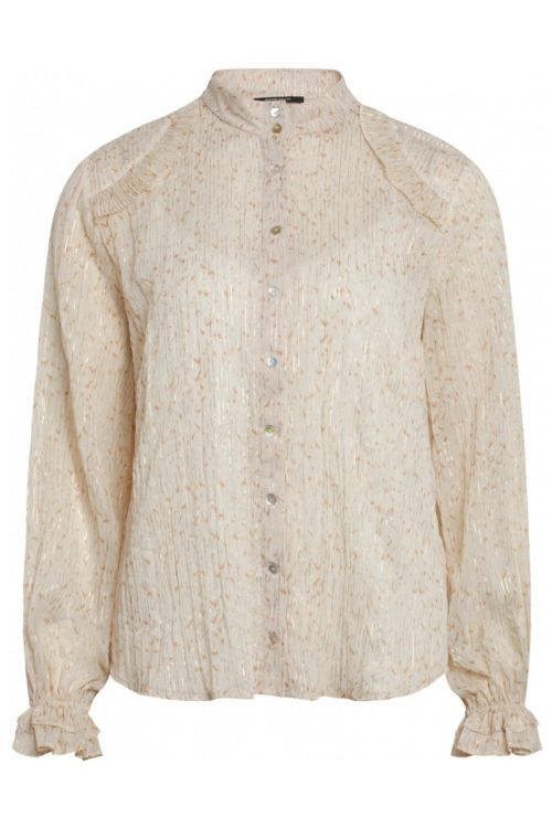 Bruuns Bazaar - Skjorte - Vervain Sabell Shirt - Modern Artwork Light