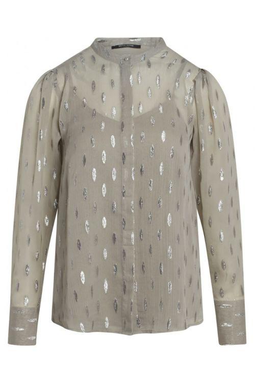 Bruuns Bazaar - Skjorte - Persian Bleecker Shirt - Concrete