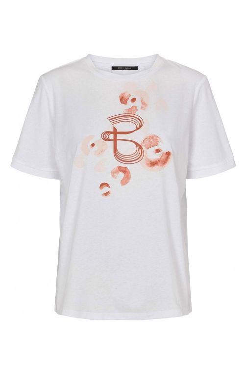 Bruuns Bazaar T-shirt Move Tilda Tee Snow White W Front Print Front