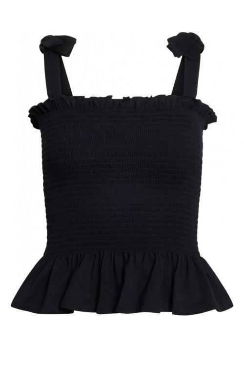 Bruuns Bazaar - Top - Carla Anna Top - Black