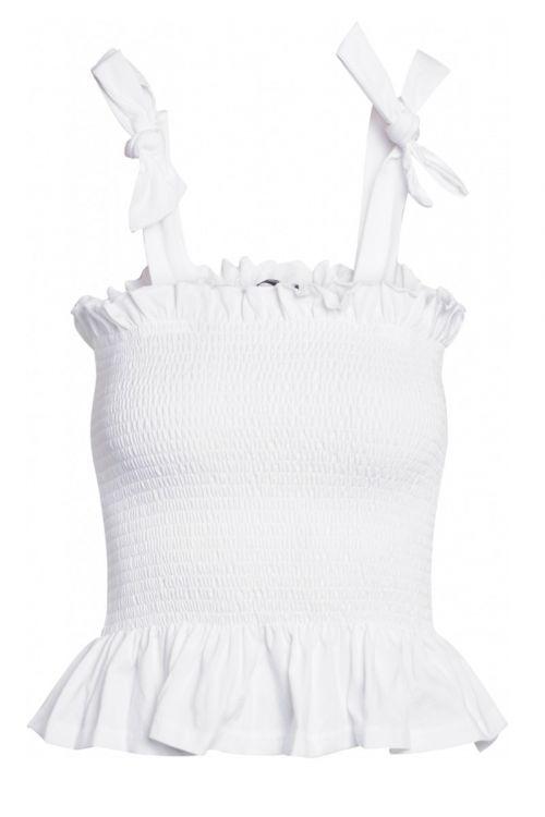 Bruuns Bazaar - Top - Carla Anna Top - White