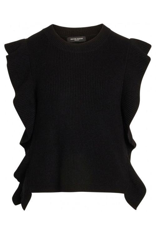 Bruuns Bazaar - Vest - Simona Innea Knit Vest - Black